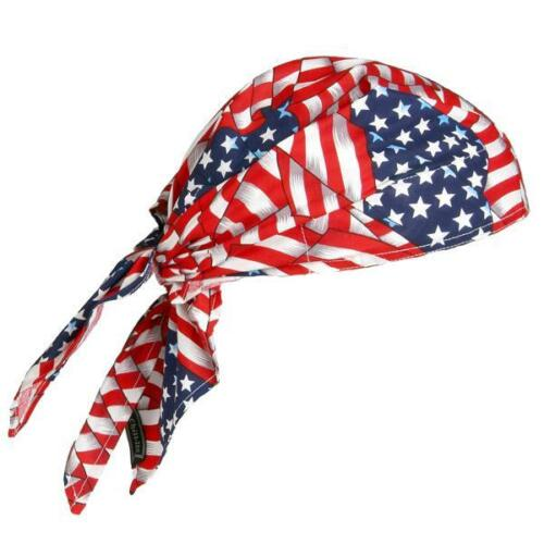 Pack of 2 Chill-Its 6710 Evaporative Cooling Triangle Bandana Hat Stars Stripes