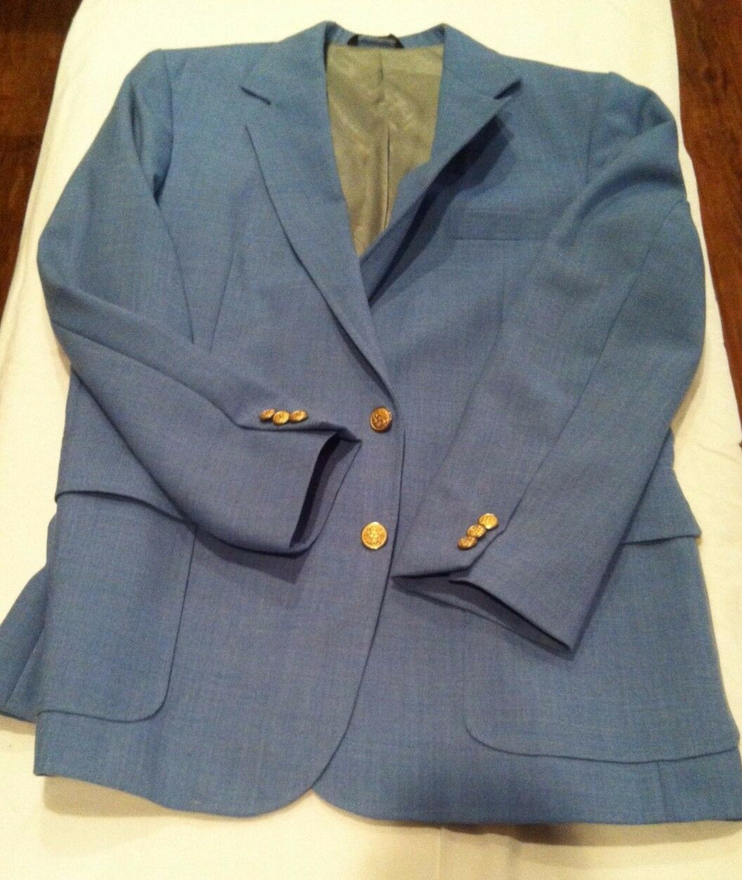 Men's Imperial by Haggar Light bluee Blazer Size 44