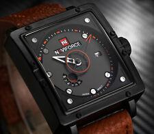 Montre Fashion Naviforce Militaire Homme Date Bracelet cuir US Army Men Watch