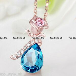 Tear Crystal Jewellery Diamond Necklace Chritstmas Mum Gifts for her Women Wife