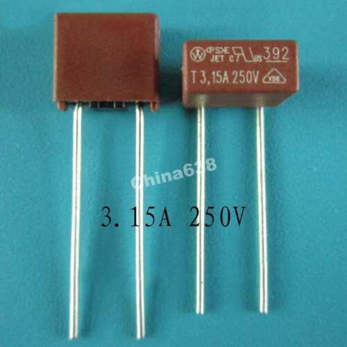 2Pcs NEW T3.15A 250V Micro Slow Blow Fuse Free shipping