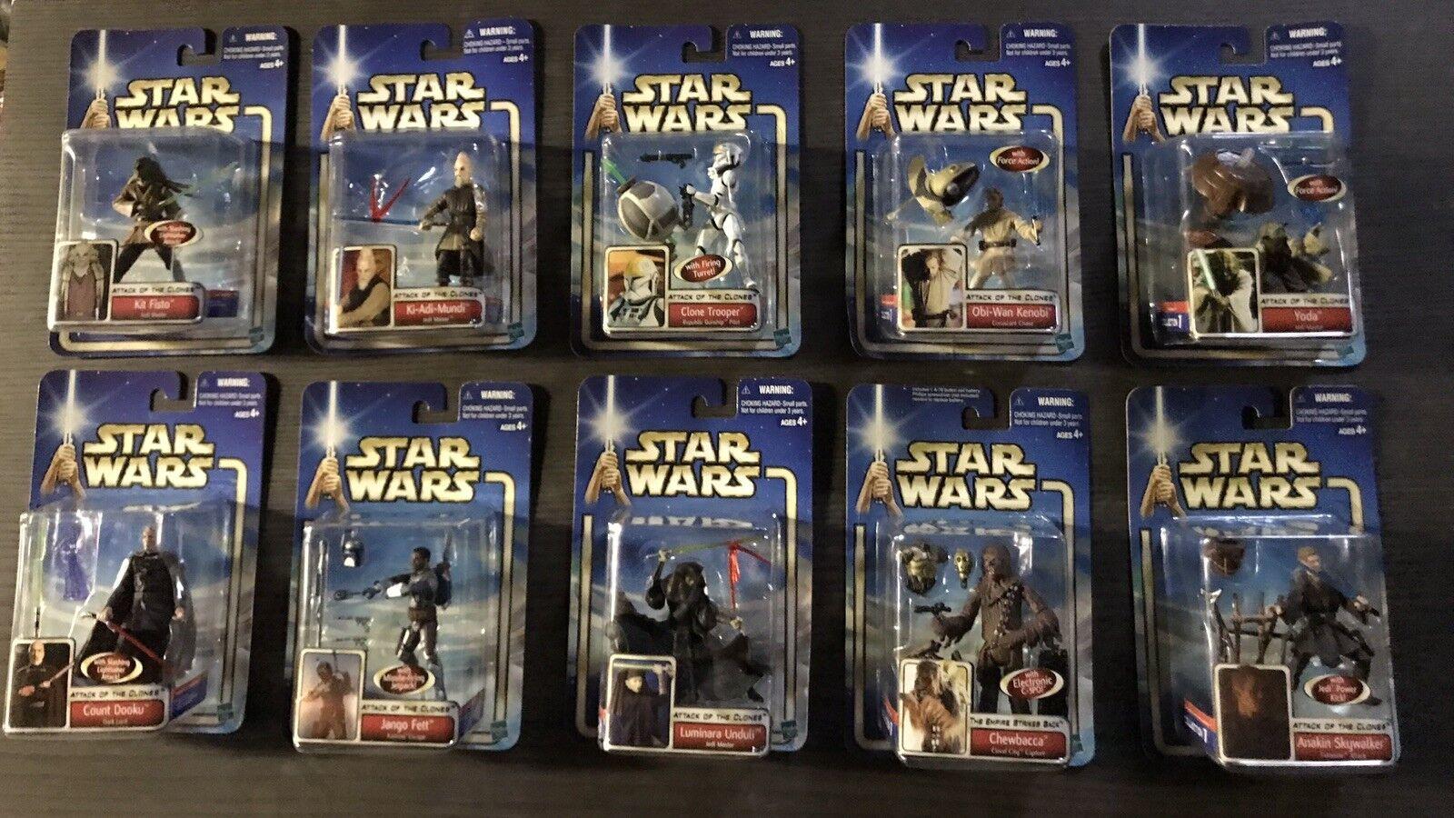 Star Wars Episode 2 Case of 10 - 12  Figures Case Excellent Condition