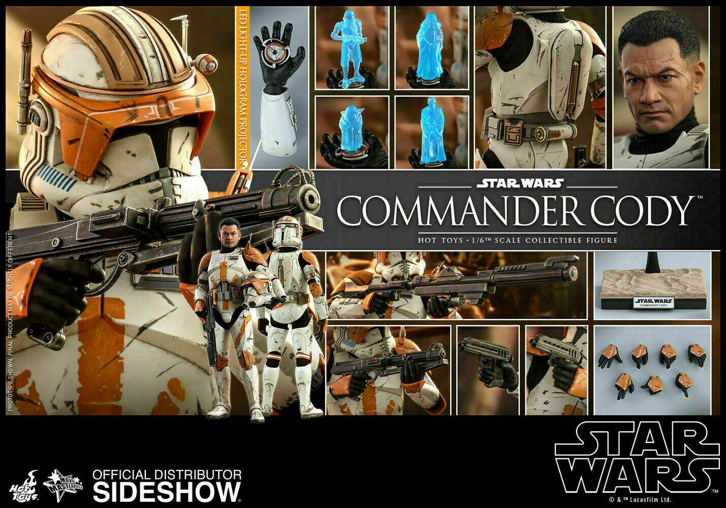 Hot Toys Star Wars Commander Cody 1/6 Scale Figure Revenge Of The Sith Clone on eBay thumbnail