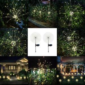 105LED-Solar-Navidad-cadena-de-luz-de-hadas-Starburst-Decoracion-Del-Jardin-Lampara-Calido-Blanco