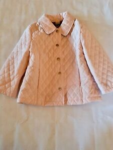 Details About Burberry Kids Childrens Quilted Jacket Pink Size 2