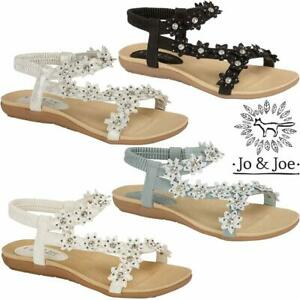 Ladies-Flat-Low-Wedge-Sandals-Women-Summer-Beach-Fashion-Strappy-Gladiator-Shoes