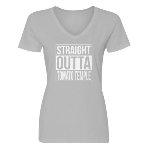 Details about  /Womens Straight Outta Tomato Temple V-Neck T-shirt #3761