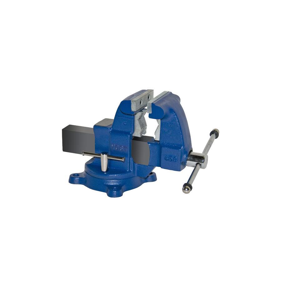 Blau Medium Duty 4-1/2-in Reversible Serrated Jaws Ductile Iron Bench Vise