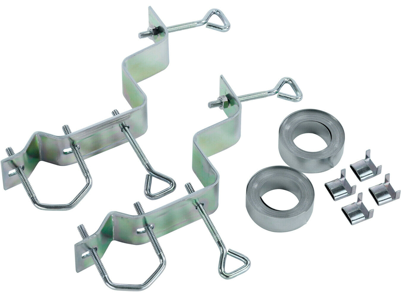 Channel Master TV Antenna Chimney Mount 12 Foot Steel Straps Brackets CM-3080. Available Now for 19.00