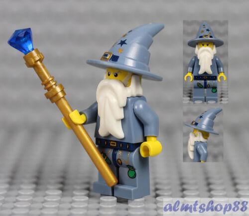 LEGO Castle Fantasy Era Good Wizard Minifigure Blue Wand 5614 Kingdom Knight