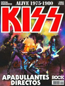 ★ THIS IS ROCK, KISS ALIVE 1975 1980 - ESPECIAL, POSTER DOBLE, SPAIN, COLLECTION