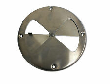 """7.25"""" Polished Aluminum Round Air Wall Vent Horse Trailer Butterfly 7 1/4"""