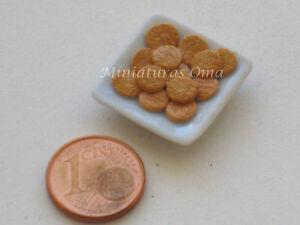Galletas maría de fimo miniatura 1/12 casas muñecas