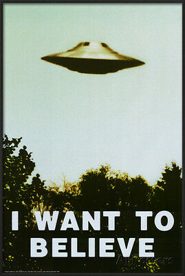The X-Files - I Want To Believe Print Lamina Framed Poster Print - 24.5x36.5