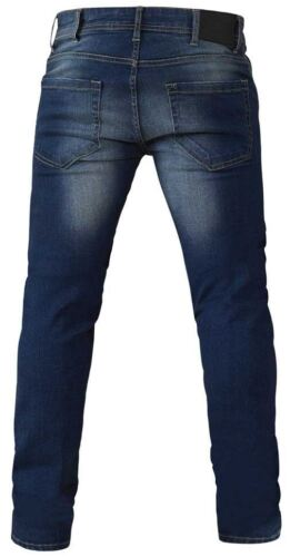 D555 Homme Extra Tall Tapered Leg Jeans Stretch en Pierre Noire AmBrose
