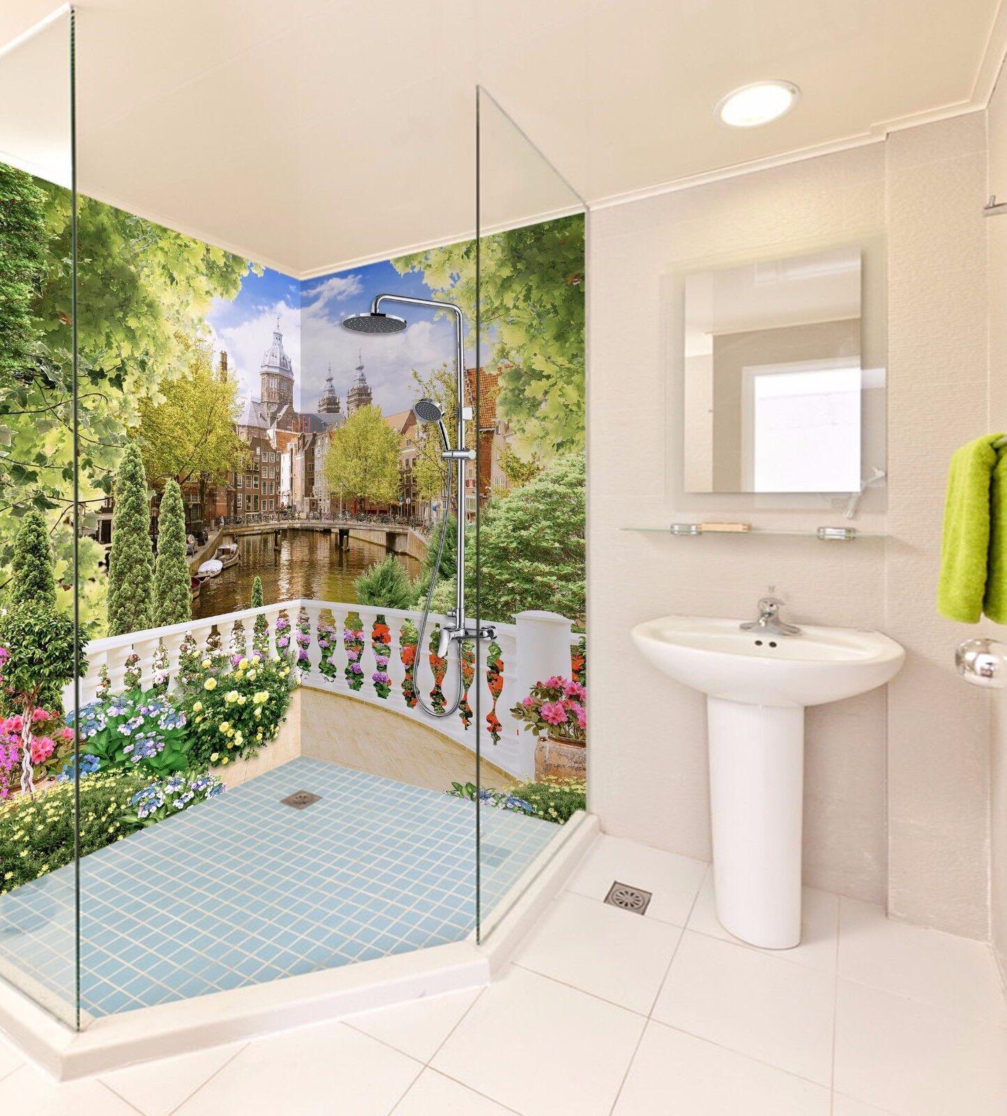 3D Trees building 4237 WallPaper Bathroom Print Decal Wall Deco AJ WALLPAPER UK