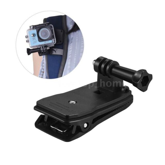 360° Rotary Backpack Belt Cap Clip  Clamp Arm for Gopro Xiaomi Yi Sports Camera