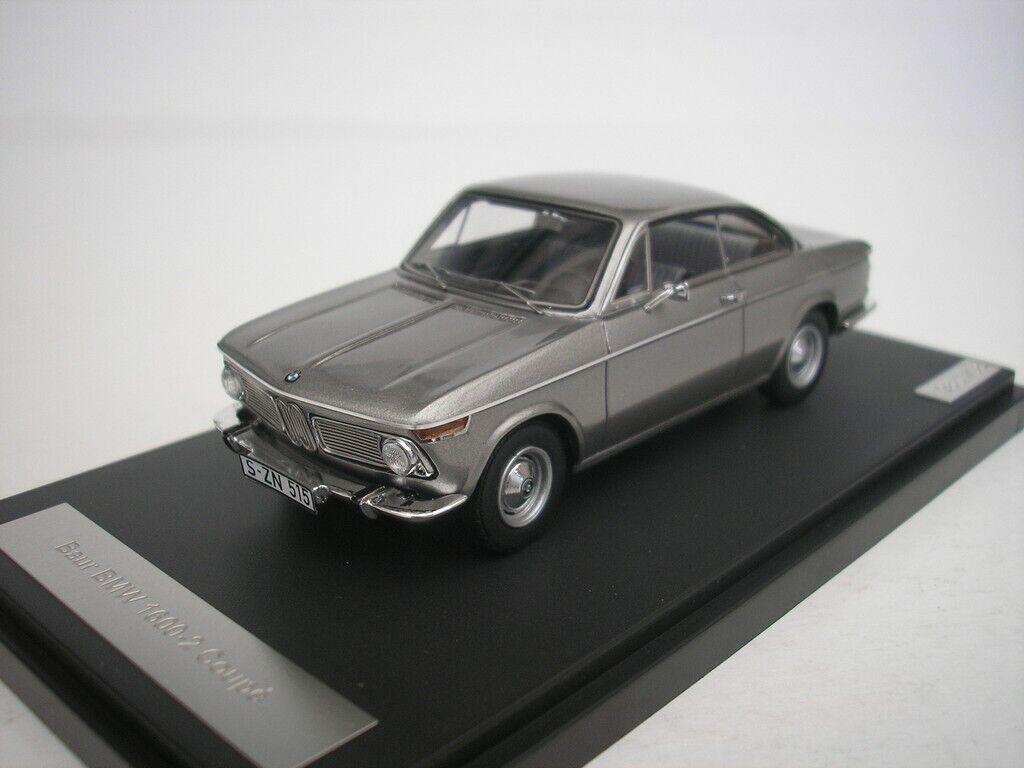 BMW 1600-2 Baur Coupè 1967 argentoo Metallizzato 1 43 Matrix Mx30202-012 Nuovo