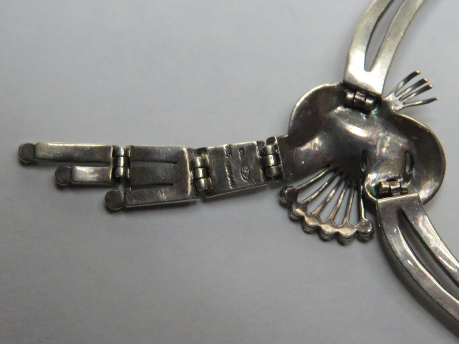 Vintage Marcasite Collegamenti Collegamenti Collegamenti Collana argentoo Sterling 925 16   Design Elegante 9df020