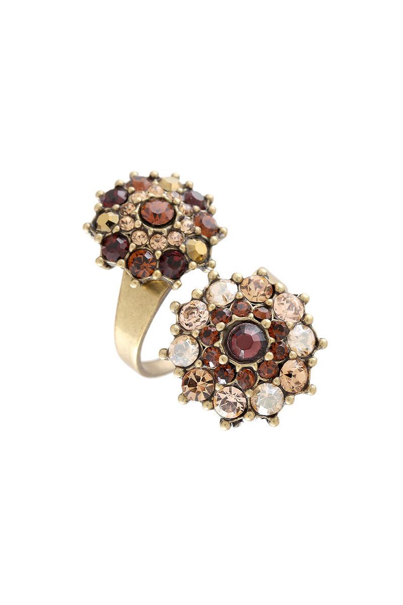 Michal Negrin Brass Ring Swarovski Crystals