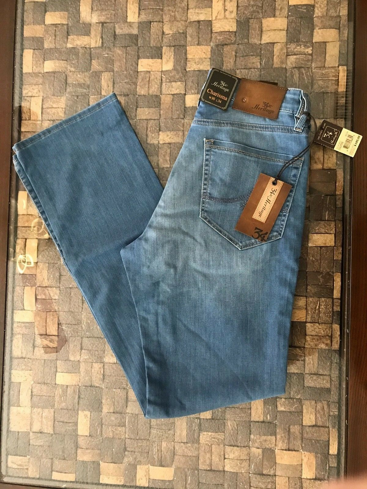 34 Heritage Charisma Light Hawaii Jeans Size 30x34