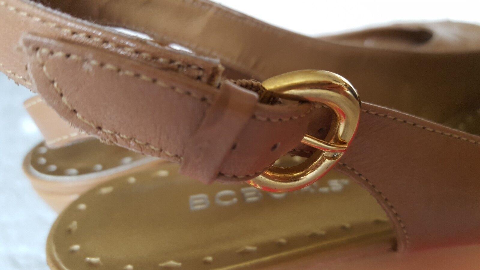 BCBGirls Gion New Calf Sugar Braun Wedge Slingback Wedge Braun Sandales Größe 9 B 35de9b