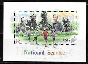 Singapore-2017-National-Service-50-years-Golden-jubilee-Miniature-sheet-MNH