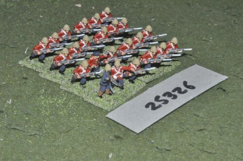 20mm colonial british zulu war redcoats 24 figures inf 25326