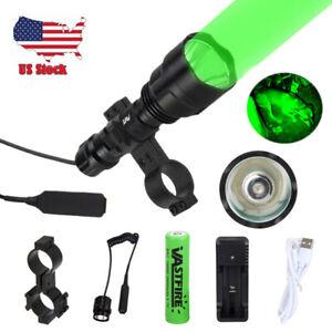 Zoom Green //Red// UV Hunting Flashlight Light Night Flashlight Scope Mount Hog