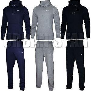 outlet vendita uk scegli il più recente Nike Da Uomo Con Cappuccio in Pile Tuta Completa Jogging Pantaloni ...