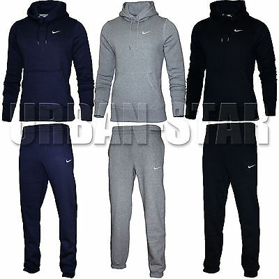 e572b2b6 Details about Nike Mens Full Tracksuit Fleece Hooded Jogging Bottms Joggers  - S M L XL