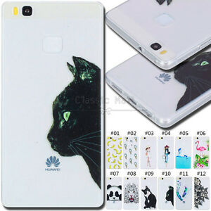 For-Huawei-P9-Lite-Shockproof-Back-Rubber-TPU-Silicone-Gel-Soft-Case-Skin-Cover