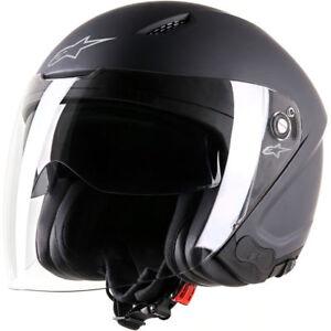 Xs Visor Open Motorcycle Alpinestars Black Face Matt Helmet Drop Novus Down U1nvxgqB