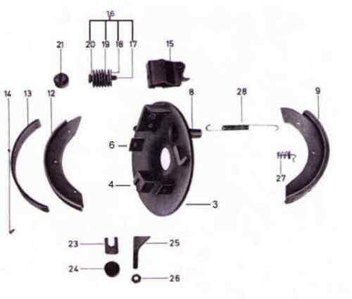 Peitz Radbremsen R234-76 Teile Peitz R234-76 Ersatzteile