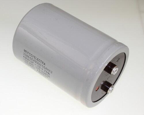 MEPCO 4900uF 150V Aluminum Electrolytic Large Can Capacitor 3186GE492U150AHA2