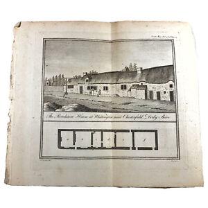 Authentic Antique 1700-1800's Engraving On Paper — Manuscript Artwork Art Old I