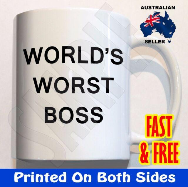 world s worst boss coffee mug cup birthday christmas gift novelty