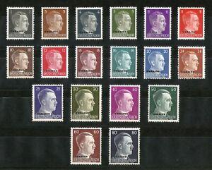 DR-Nazi-3rd-Reich-Rare-WW2-Stamp-Adolf-Hitler-Head-UKRAINE-Over-Print-Occupation