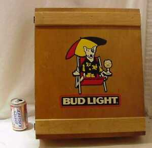 SUPER-RARE-SPUDS-MACKENZIE-BUD-LIGHT-WOODEN-STORAGE-MEDICINE-CABINET-BOX