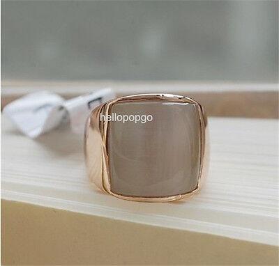 18K Rose Gold GP Swarovski Crystal White Mica stone Ring Size 6,7,8,9 BR1426