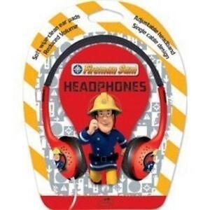 Little-Star-Fireman-Sam-Kids-Over-Ear-Stereo-Wipe-Clean-3-5mm-Headphones-Red-New
