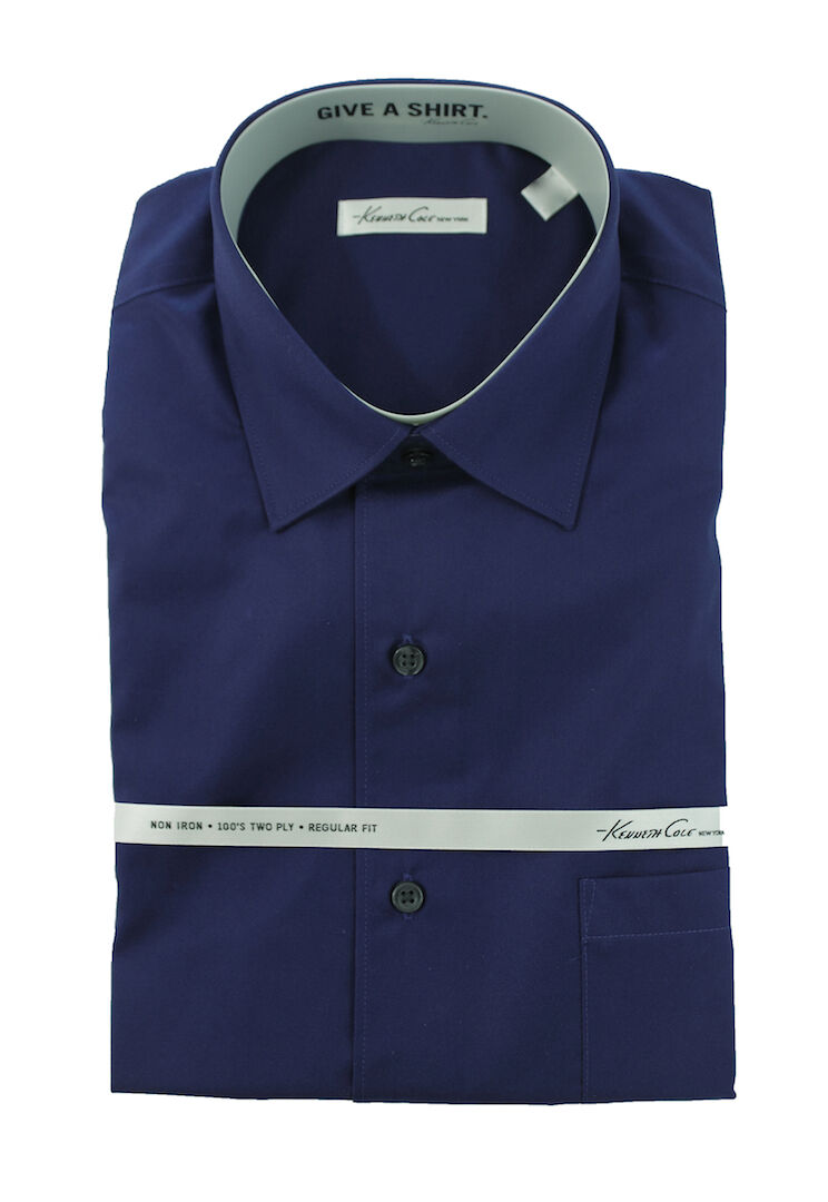 Men's KENNETH COLE Purple NON IRON Dress Shirt 16 32 33 NWT NEW