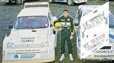 Calcas MG Metro 6R4 1986 Test Rally Wales 1:32 1:43 1:24 1:18 slot Senna decals