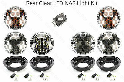 6 Rdx Lux Led claro nas Kit De Luces EasyFit plintos relé Defensor 1994 a 2001