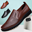 Summer-Business-Men-039-s-Breathable-Hollow-Out-Slip-On-Shoes-Casual-Leather-Shoes thumbnail 1