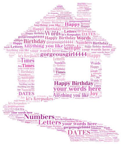 word art personalised gift present keepsake retirement sorry your leaving