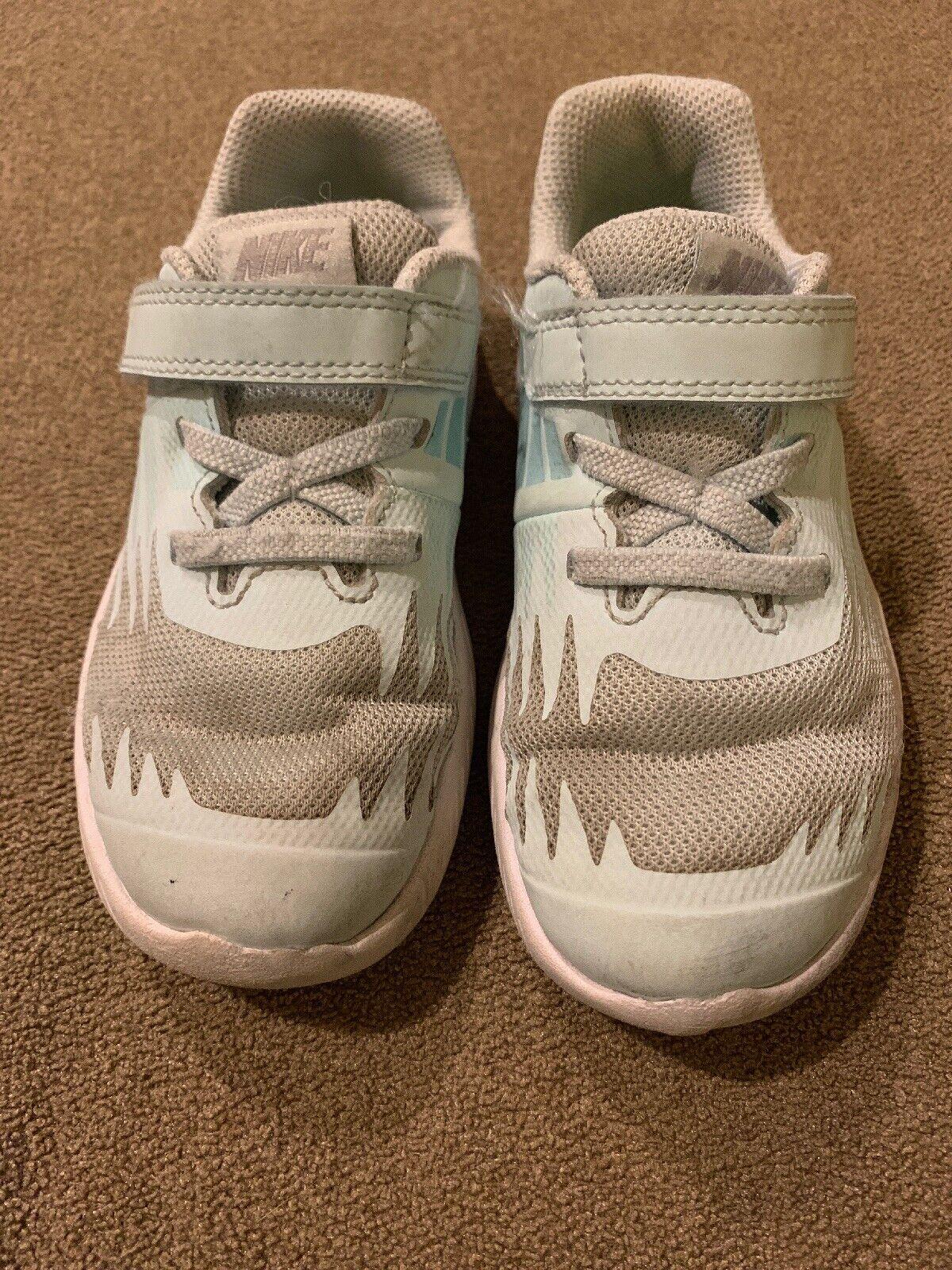 Nike Girl Shoes 5c Glacier Blue Gray