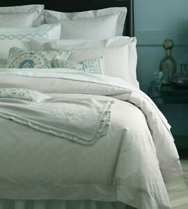 Image Is Loading Sferra Bruni Duvet Cover Queen Silver Sage Cotton