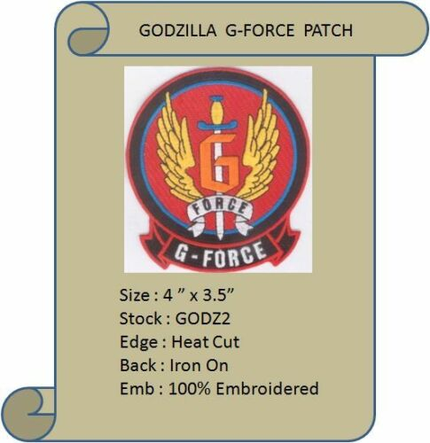 "GODZILLA  G-FORCE 4/""  PATCH GODZ2"