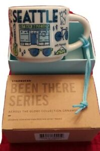 """STARBUCKS ~ Seattle ~ """"Been There"""" Icon Ornament Mug (NEW) ~ YAH 2 Oz NWT"""